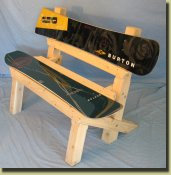 Snowboard bench, The Trail Bench