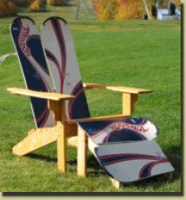 Snowboard Chair with matching footstool